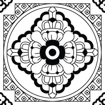 Origem étnica monocromática sem costura. ilustração vetorial