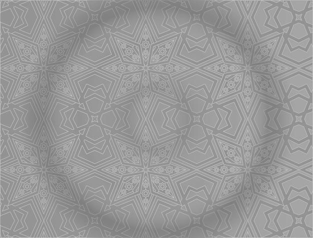 Origem islâmica com padrão cinza