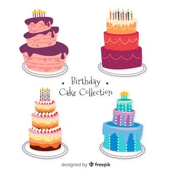 Original coleção de bolo de aniversário