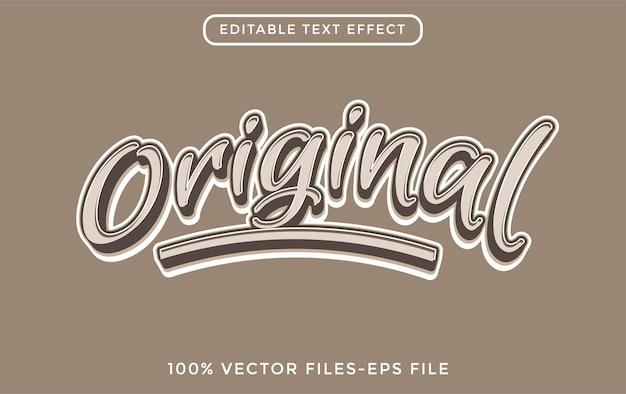 Original - efeito de texto editável do ilustrador premium vector
