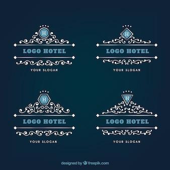 Ornamentais logos de hotéis