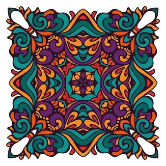 Ornamental abstract vector colorful étnica geométrica; elemento decorativo