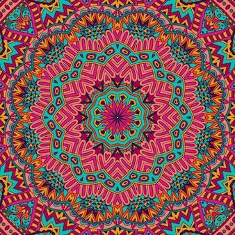 Ornamental abstract vector fundo sem costura geométrico étnico colorido
