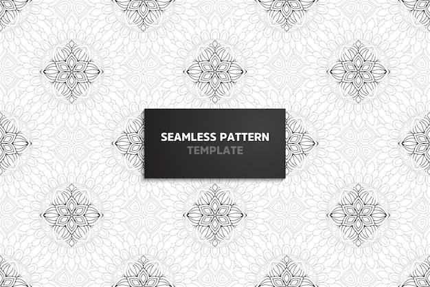 Ornamental belo padrão sem emenda com mandala.