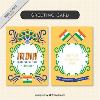 Ornamental cartão india