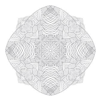 Ornamental mandala detailed ornament