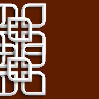 Ornamento 3d em estilo árabe