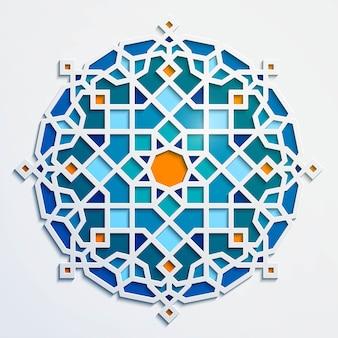 Ornamento árabe - padrão geométrico do círculo marroquino