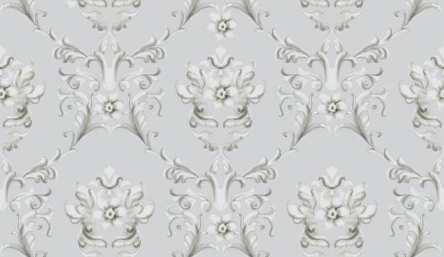 Ornamento barroco aquarela textura na moda de luxo. estilos antigos retrô vintage