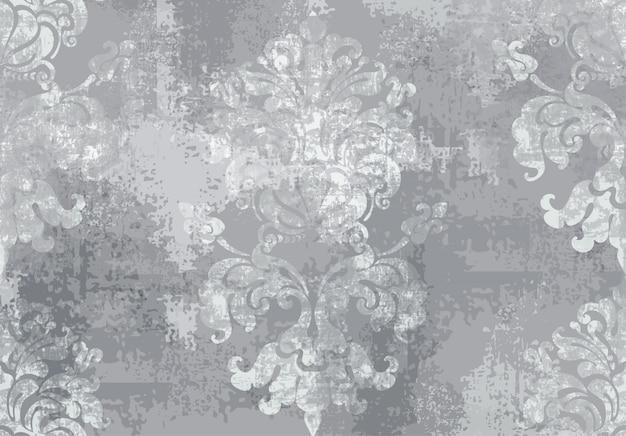 Ornamento barroco aquarela textura na moda de luxo