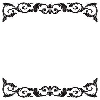 Ornamento barroco clássico. filigrana de elemento de design decorativo.