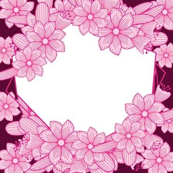Ornamento bonito cor-de-rosa do quadro do casamento do florista da flor