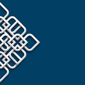 Ornamento branco 3d em estilo árabe