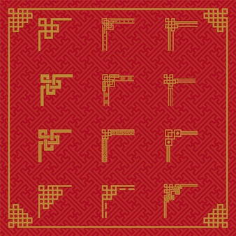 Ornamento chinês da beira