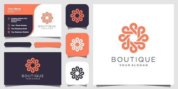Ornamento círculo conceito logotipo com estilo de arte linha. círculo infinito símbolo logotipo arredondado ornamento. cartão de visitas