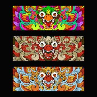 Ornamento da cultura garuda barong