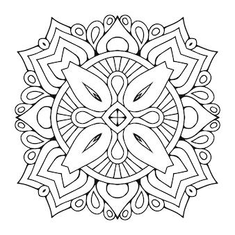 Ornamento de arabesco de vetor