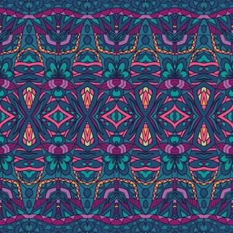 Ornamento de carnaval de padrão sem emenda. fundo decorativo da arte geomérica do festival colorido vetor.