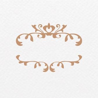 Ornamento de filigrana de bronze vintage