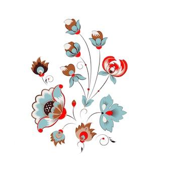 Ornamento de flores russo