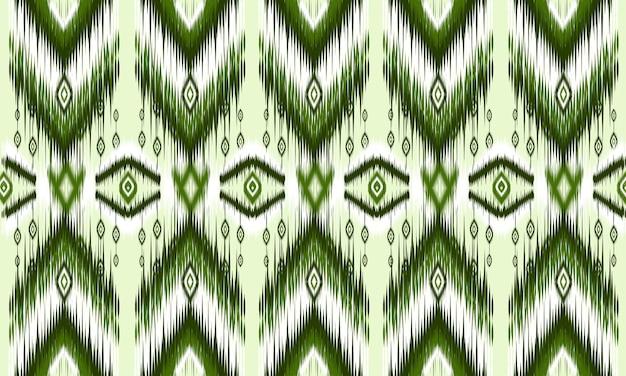 Ornamento de folclore geométrico ikat com diamantes. projeto de fundo, tapete, papel de parede, roupas, embrulho, batik, tecido, ilustração vetorial. estilo bordado.