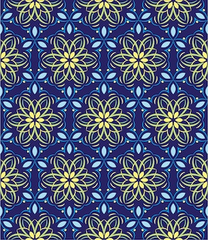 Ornamento de fundo abstrato, padrão sem emenda com flores