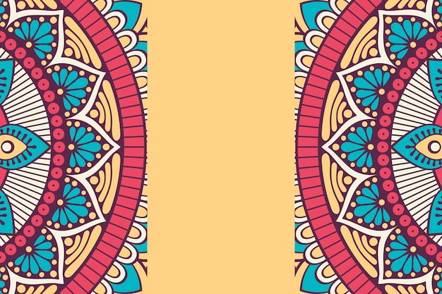 Ornamento de fundo bonito elemento de círculo geométrico feito em vetor