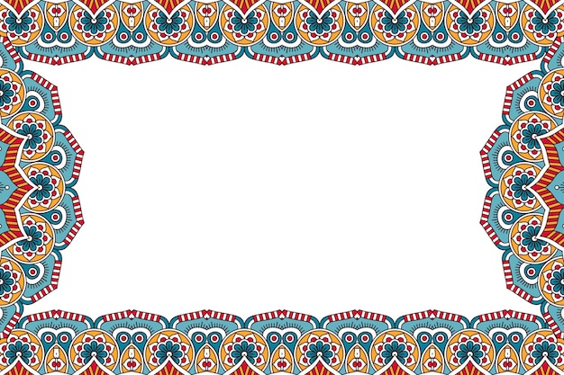 Ornamento de fundo bonito elemento de círculo geométrico Vetor grátis