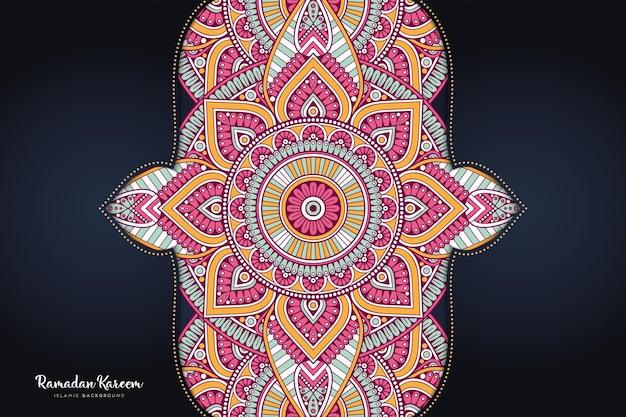 Ornamento de fundo bonito elemento de círculo geométrico