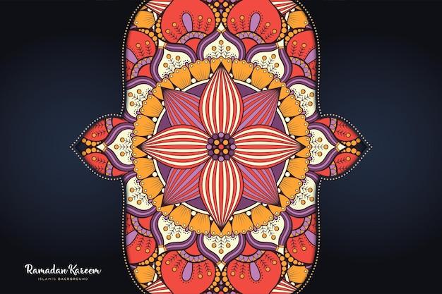 Ornamento de fundo bonito elemento de círculo geométrico Vetor Premium