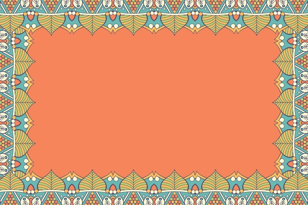 Ornamento de fundo bonito quadro floral geométrico