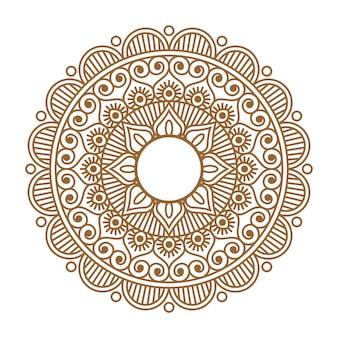Ornamento de henna indiana mehendi