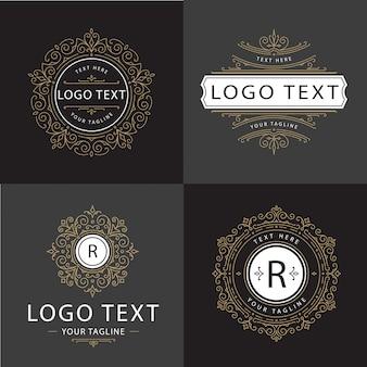 Ornamento de luxo vector logo