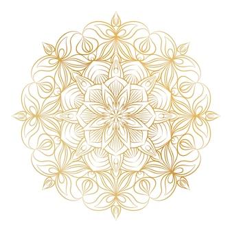 Ornamento de mandala de vetor. elementos decorativos vintage.