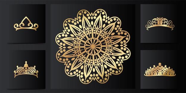 Ornamento de mandala e tiara