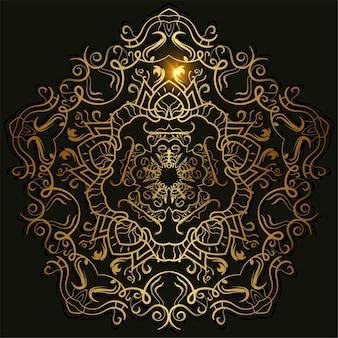Ornamento de mandala ou design de plano de fundo da flor.