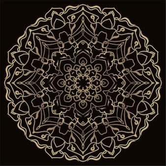 Ornamento de mandala ou fundo de flor.