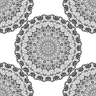 Ornamento de mandala padrão sem emenda.