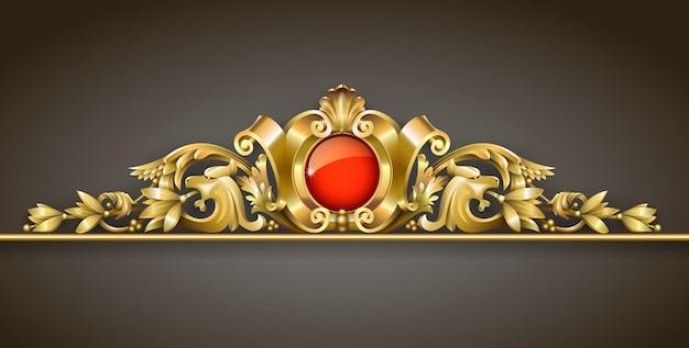 Ornamento de ouro clássico
