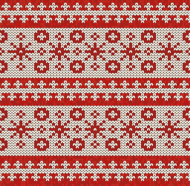 Ornamento de padrão sem emenda de inverno na textura de malha de lã. ilustração vetorial
