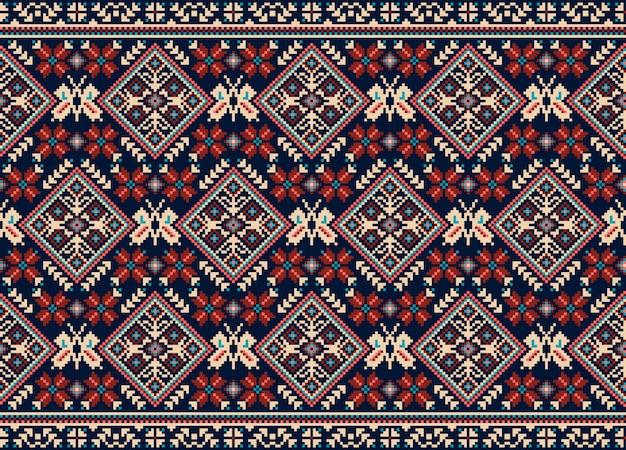 Ornamento de padrão sem emenda folk ucraniano