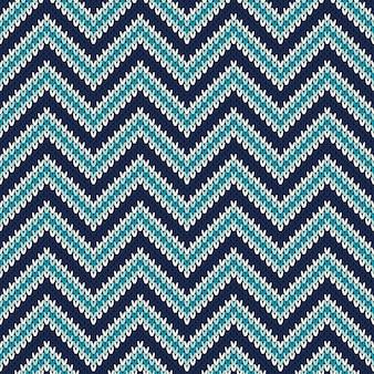 Ornamento de padrão sem emenda na textura de malha de lã