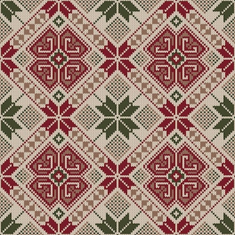 Ornamento de padrão sem emenda popular. enfeite étnico