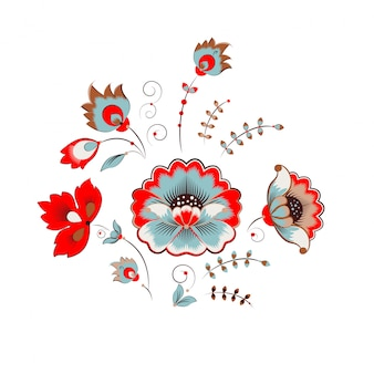 Ornamento de peônia russa