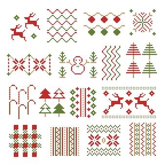 Ornamento de pixel de natal