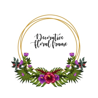 Ornamento de quadro floral decorativo