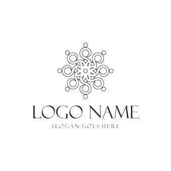 Ornamento decoração arte elegante criativo geométrico moderno design de logotipo
