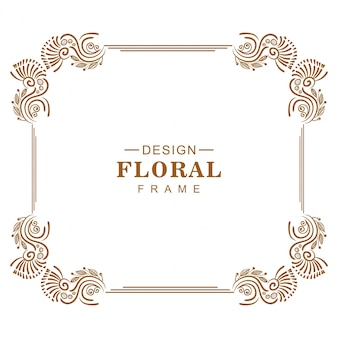 Ornamento decorativo design floral criativo