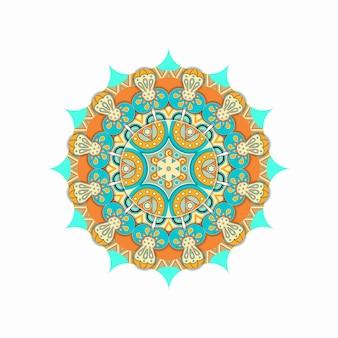 Ornamento étnico de mandala colorida