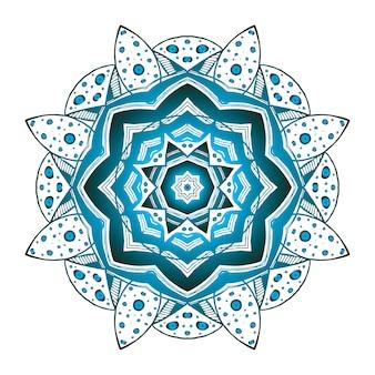 Ornamento fantástico floral abstrato. figura mística, elemento de padrão decorativo. vetor